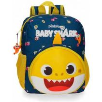 rugzak Baby Shark junior 28 cm polyester blauw/geel