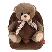 Backpack extra fluffy Tommy Bear 2,7 liter donkerbruin