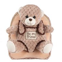Backpack peluche Milly Bear 2,7 liter bruin