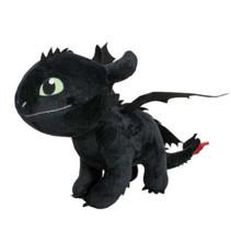 knuffel Dragon junior 40 cm polyester zwart