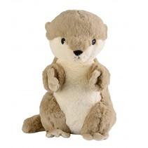 warmteknuffel Otter 38 cm bruin
