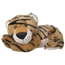 opwarmknuffel tijger 30 cm bruin