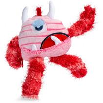 knuffelpop junior pluche 24 cm roze/rood