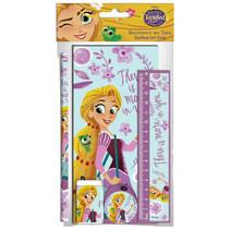 schrijfset Rapunzel meisjes paars/blauw 5-delig