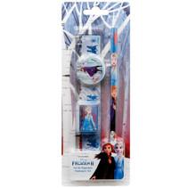 schrijfwarenset meisjes 15 cm blauw/wit 4-delig