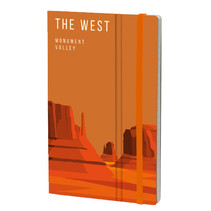 notitieboek Monument Valley 13 x 21 cm papier oranje