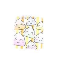 notitieboekje meisjes 10 x 8 cm papier geel/oranje