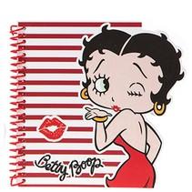 notitieboek Betty Boop meisjes rood/wit