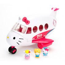 vliegtuig Hello Kitty meisjes 36,5 cm wit/roze 21-delig
