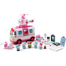 speelset Hello Kitty meisjes wit/roze 21-delig