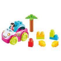 speelset Blocks meisjes 22 cm roze/wit/blauw 4-delig
