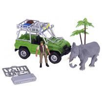 speelset Safari jongens groen/grijs 6-delig