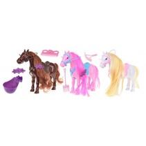 speelset paarden met accessoires 15 cm multicolor