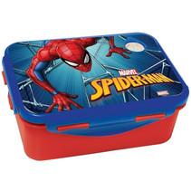 broodtrommel Spider-Man junior 17 x 12 cm rood/blauw
