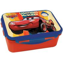 broodtrommel Cars jongens 17 x 12 cm rood/blauw