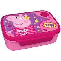 broodtrommel Peppa Pig junior 18 x 13 cm roze