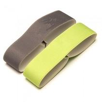elastiek voor broodtrommel 15,5 cm groen/grijs 2 stuks