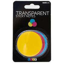 memoblokken cirkels 5 cm papier blauw/roze/geel 3 stuks