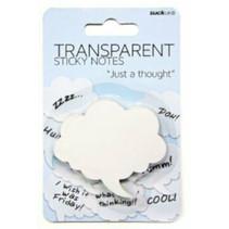 memoblok tekstballon 6,5 x 5,9 cm papier wit