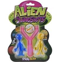 slingshots Alien katapult roze 12 cm 3-delig