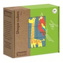 blokkenset Shape Cubes dieren 12-delig