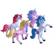 speelfiguren Eenhoorn meisjes 10 cm roze/paars