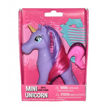 mini-unicorn meisjes 10,5 cm paars 2-delig