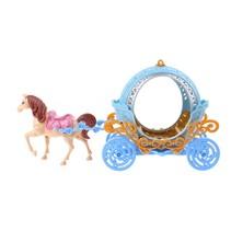 paard met koets 2-delig lichtblauw