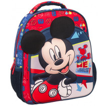 rugzak Mickey Mouse Clubhouse 31 x 27 cm blauw/rood
