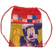 gymtas Mickey Mouse junior 42 cm polyester rood/geel