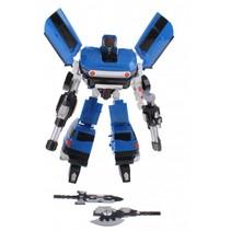 transformation robot busje 26 cm blauw