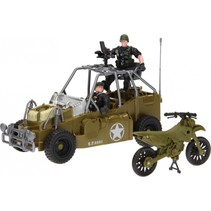 speelset Army Forces jeep groen