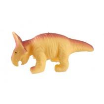 kneedfiguur dinosaurus 12 cm geel/rood