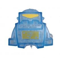 squeezy robot blauw/geel 7 cm