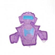 squeezy robot paars/blauw 7 cm