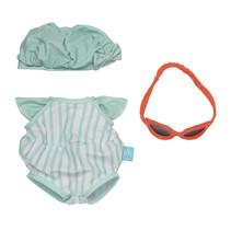 outfit Baby Stella 30,5 cm textiel groen 3-delig