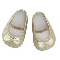 poppenschoentjes glitter goud voor pop van 30-35 cm