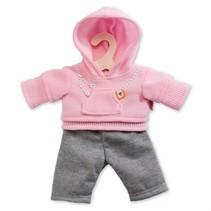 poppenkleding joggingpak roze 35-45 cm