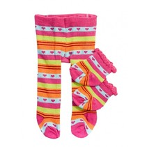 maillot en sokjes met hartjes voor een pop van 35-45 cm