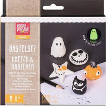 boetseerklei-gumset Halloween junior wit/zwart 7-delig