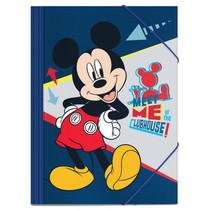 elastomap Mickey Mouse junior 35 x 25 cm karton blauw