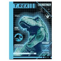 elastomap T-Rex jongens 35 cm A4 zwart/blauw
