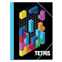 elastomap Tetris junior 22 x 35 cm A4 zwart/blauw