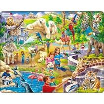 legpuzzel Maxi in de dierentuin 48 stukjes
