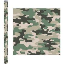 kaftpapier Camouflage 200 x 70 cm papier groen