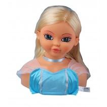 kappop meisjes 24 cm blauw