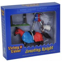 speelset duellerende ridder blauw/rood