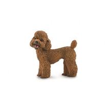 hond Poedel junior 4,2 cm rubber bruin
