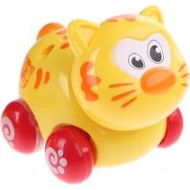 babypoes op wielen geel