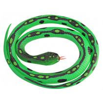 slang Anaconda junior 117 cm rubber groen